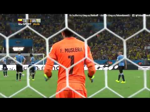 Colombia 1 Uruguay 0 James Rodriguez Pache Andrade