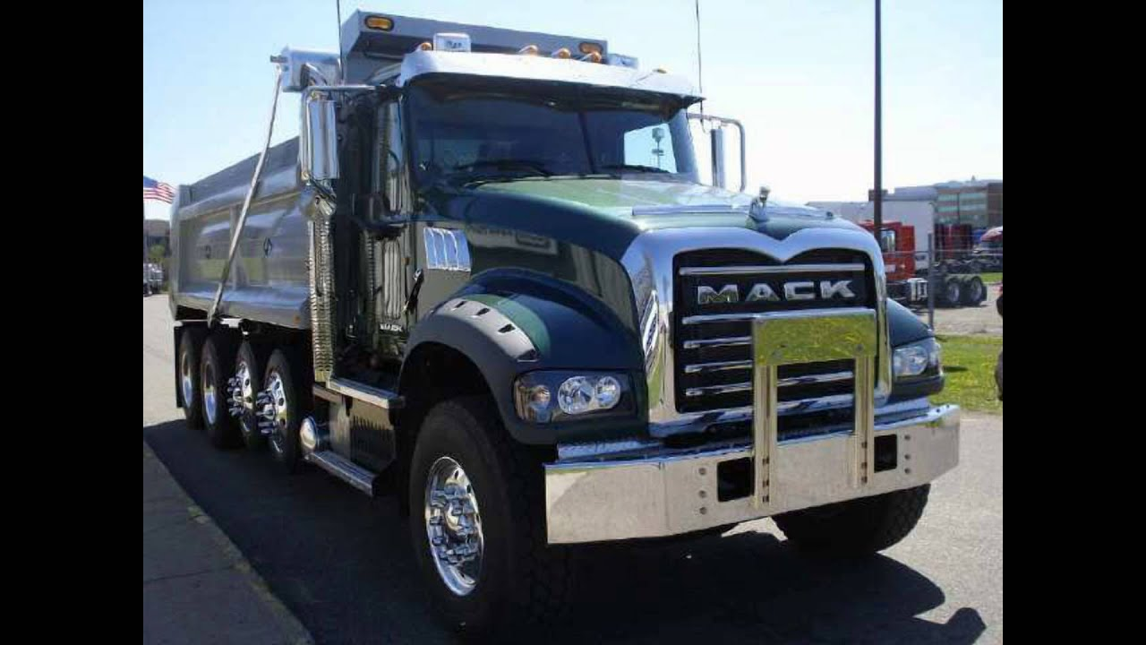 new mack dump truck for sale 2012 quad axle dump truck [ 1280 x 720 Pixel ]