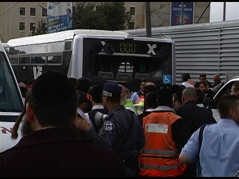 Jerusalem terror attack scene minutes after the explosion