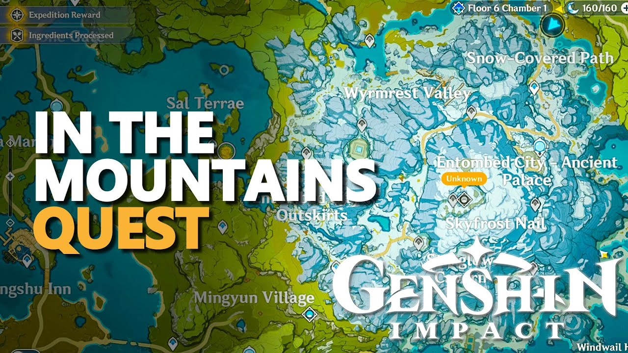 In The Mountains Genshin Impact Quest Youtube