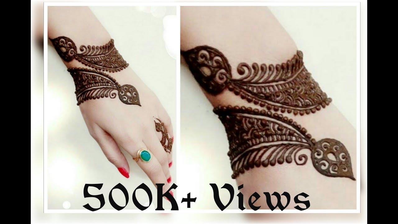 Bracelet Henna Design 4 20 Youtube