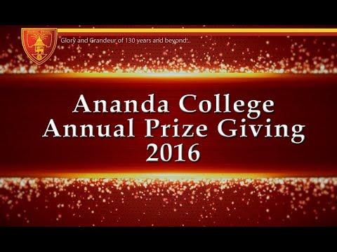 Ananda College Annual Prize Giving 2016