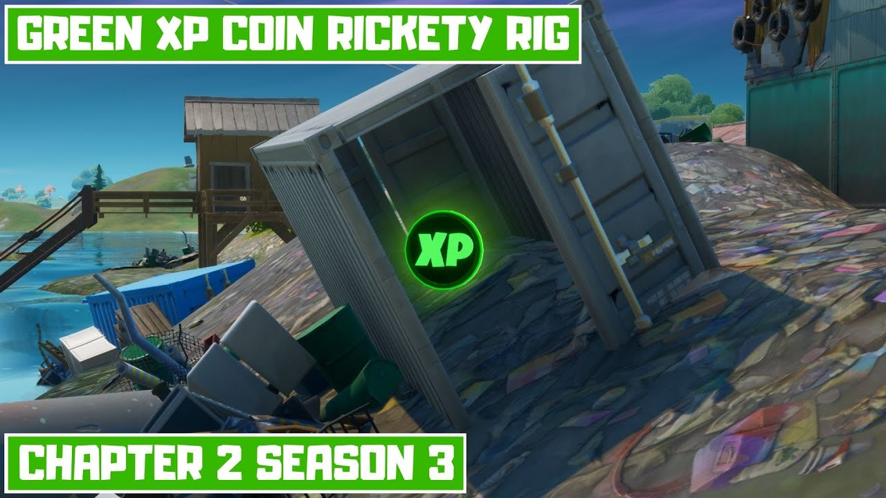 Green XP Coin Around Rickety Rig Location Week 1 (after water level dropped)!