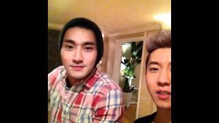 120301 Brian's Twitter Video Update with Siwon