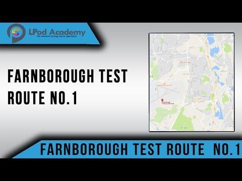 Farnborough Driving Test Route No.1