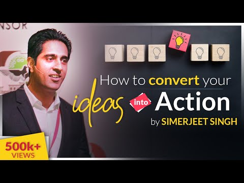 How to convert your IDEAS into ACTION | Hindi Video on Innovation | CC 5 | Simerjeet Singh