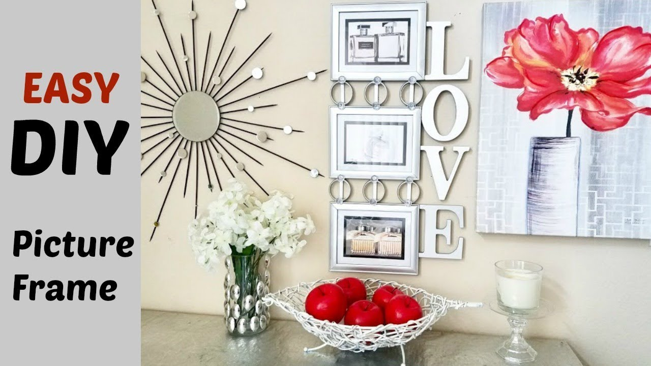 Quick and Easy Cheap Diy Wall Art Picture Frame. - YouTube