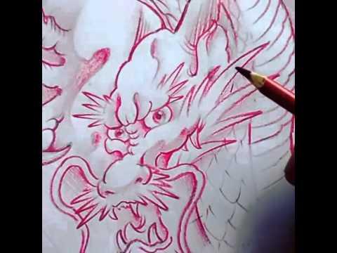 Desenhando dragão tattoo