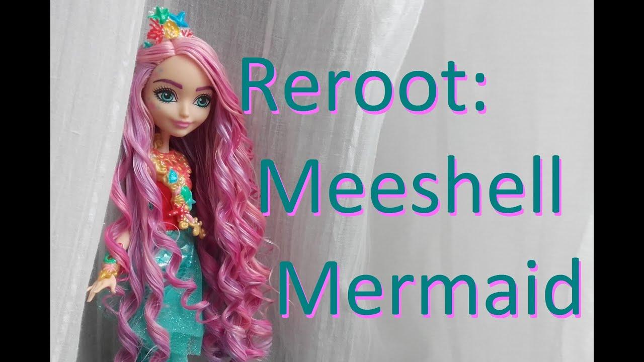 meeshell mermaid doll hair