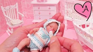 Bebe Reborn *MINIATURA*  Baby Gigi bebé de silicona que parece de verdad - Juguetes con Andre