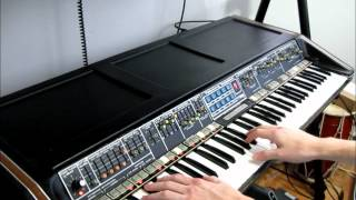 polymoog 203a demonstration (by Synthpro)