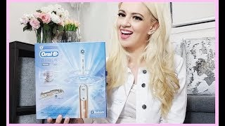ORAL B GENIUS 9000 ROSE GOLD ELECTRONIC ELECTRIC TOOTHBRUSH! LUXE ORAL HYGIENE