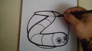 COMO DIBUJAR EL GUSANO DE SLITHER.IO / how to draw a worm of slither.io