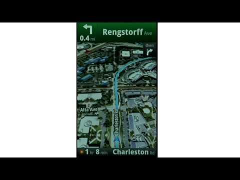 Google Maps Navigation (Beta): satellite view