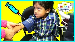 RYAN GOT HIS FLU SHOT Doctor Checkup Toy Hunt McDonald Happy Meal Toys EVERYDAY WITH RYAN