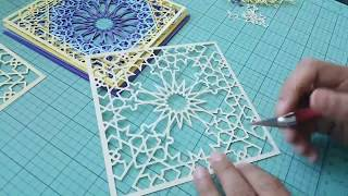 The making of Noor - Paper cutting