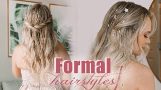 4 Easy Prom and Wedding Hairstyles! - KayleyMelissa