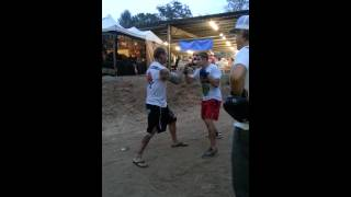 Pre fight Steven Kozola MMA Fight- Compound Escondido July 20, 2013