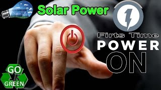 solar diy off grid project ep004 first power onrun of solar system 2of2 initial test