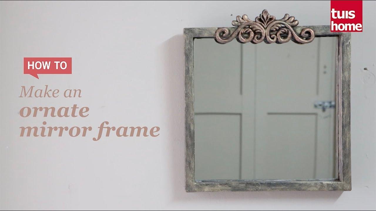 Make an ornate mirror frame - YouTube