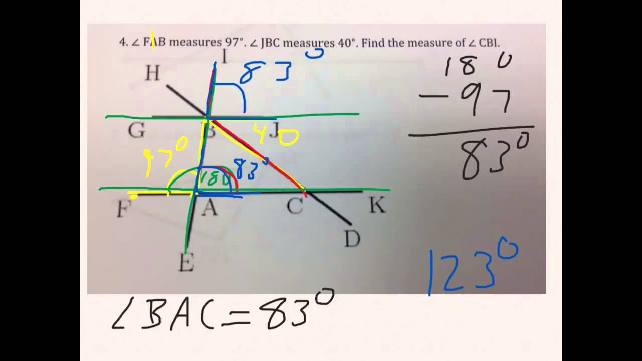 hight resolution of Angles worksheet 8th grade - YouTube