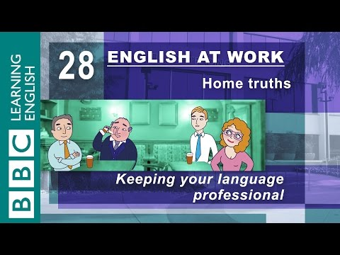 Keeping things professional – 28 – English at Work gives you the phrases