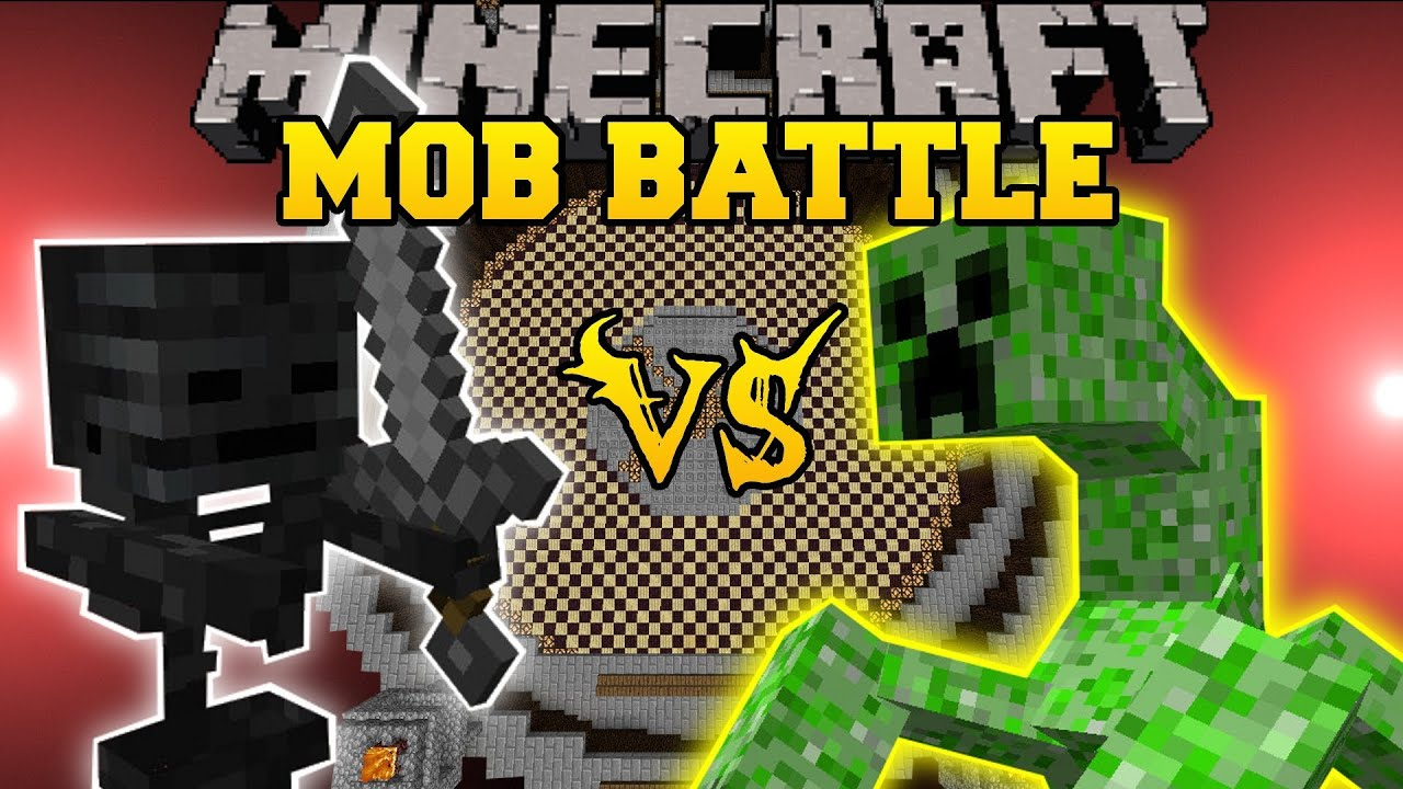 Wither Skeleton Vs Mutant Creeper Minecraft Mob Battles