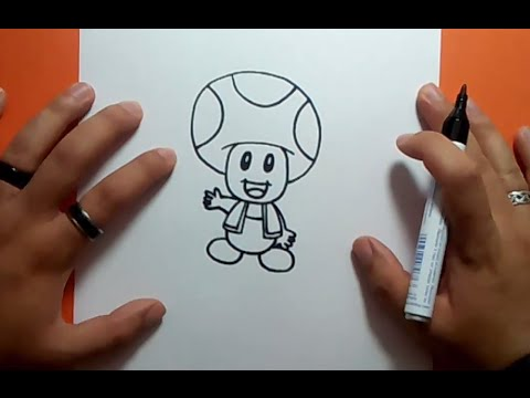 how to draw yellow toad