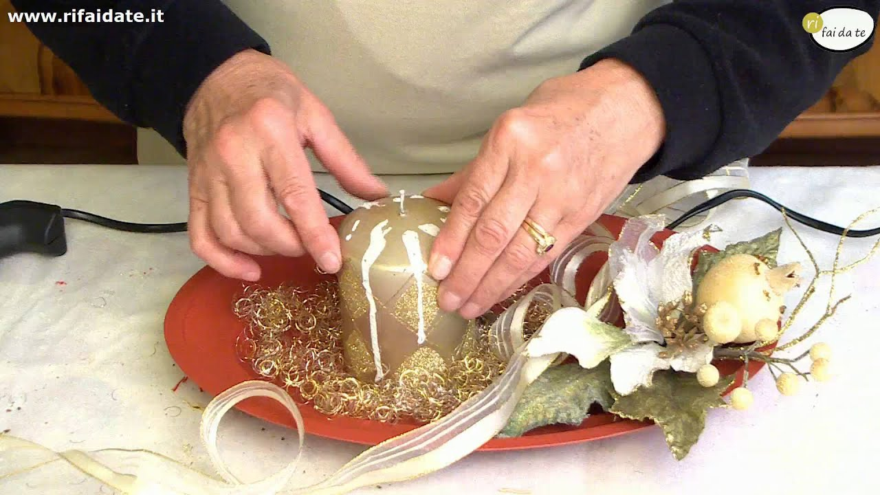 Centrotavola Natalizi Lavoretti.Realizzare Un Centro Tavola Per Natale Youtube