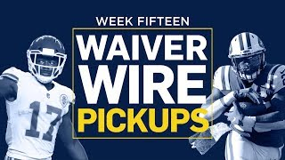 Week 15 Waiver Wire Pickups (Fantasy Football)