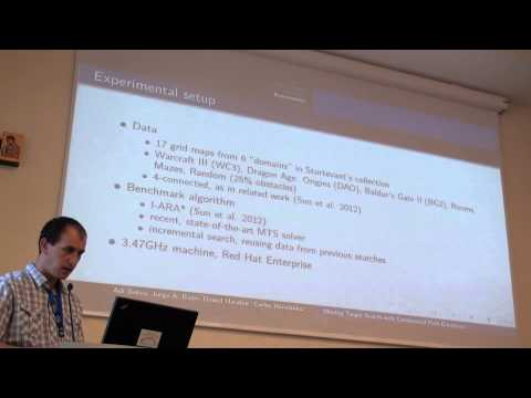 ICAPS 2013: Adi Botea - Moving Target Search with Compressed Path Databases