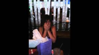 Birthday girl finds out she's going to be an Aunt