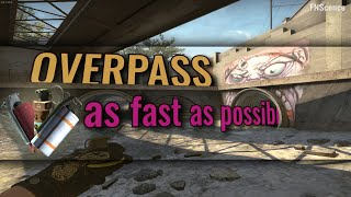 OVERPASS in 2020 as fast as possible (trickjumps, wallbangs, smokes, one-ways, utility) | CS:GO YouTube Videos