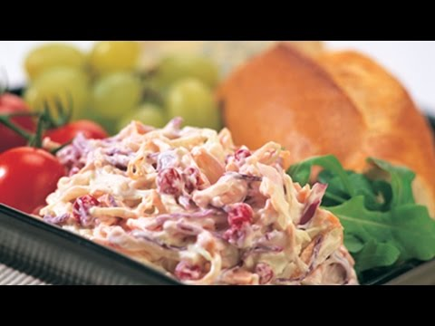 Sweet chilli coleslaw recipe ideal for foodservice or take home retail