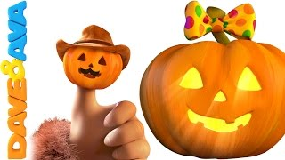 Finger Family Halloween Song | Five Little Pumpkins | Halloween Song for Kids from Dave and Ava
