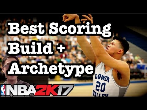 NBA 2K17 Best Build Shooting Guard Tips: How to make best 2K17 shot creator archetype.