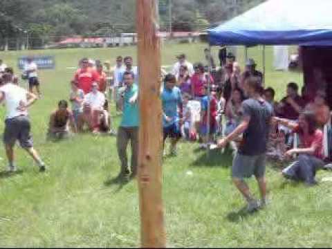 Palo Encebado Juegos Tradicionales Tres Rios Costa Rica Parte 2
