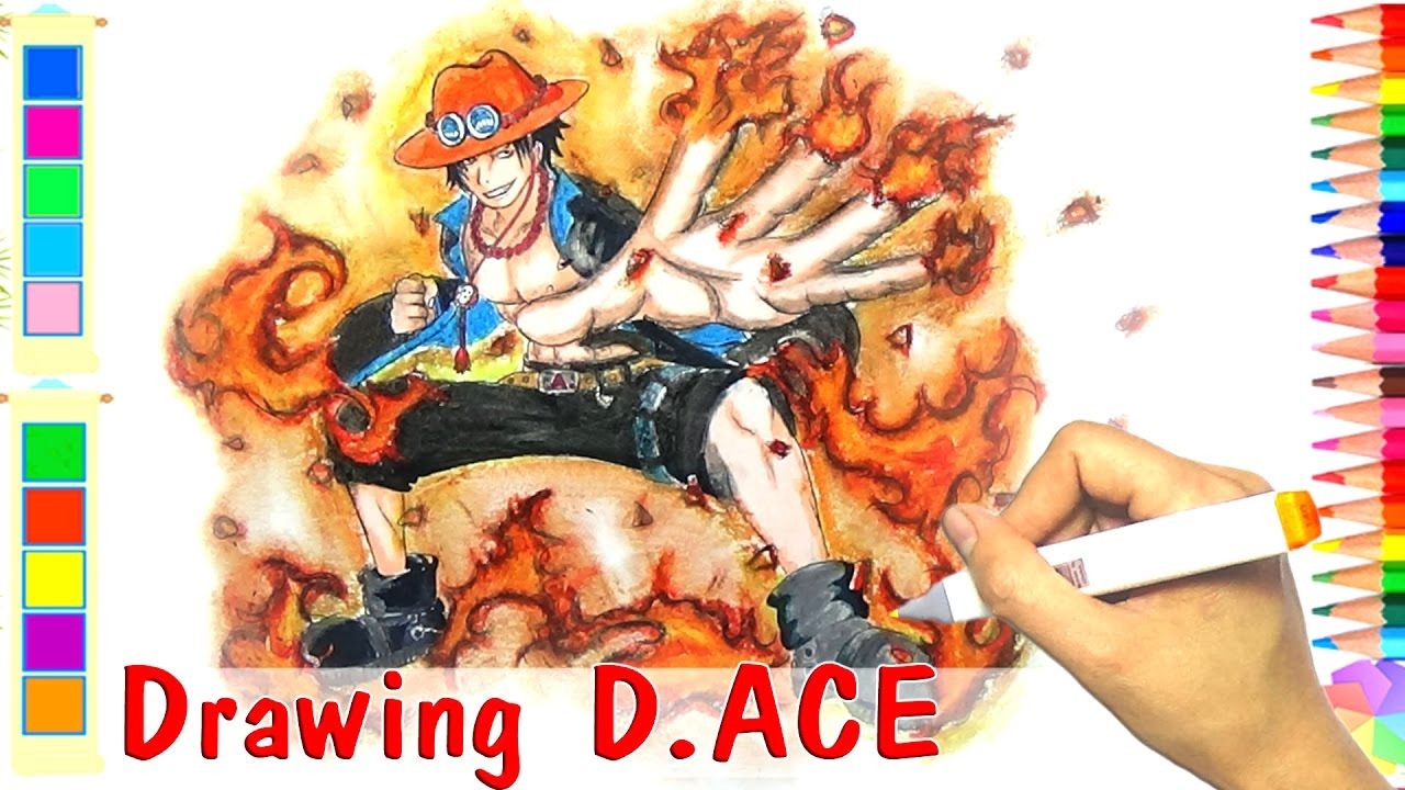 Cách Vẽ Portgas D Ace Trong One Piece - How to draw Portgas D Ace