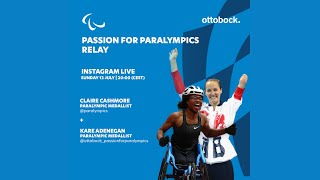 Passion for Paralympics relay -- Live Instagram interview with Kare Adenegan