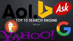 Top 10 Search Engine till 2017 | SEO | Web Search | Do You Know | Search
