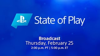 PlayStation State of Play February 2021 Livestream