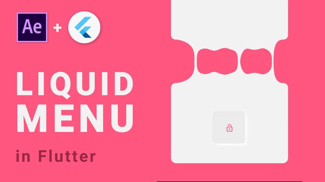 Liquid Animated Menu with Flutter