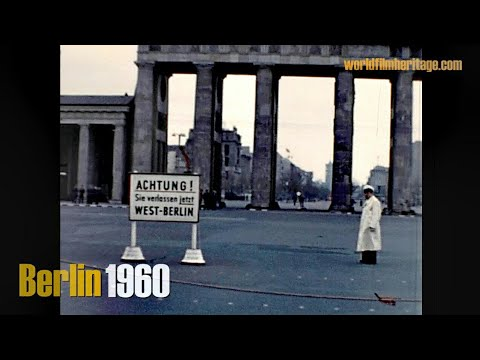 Berlin  1960 - Ost & West vor dem Mauerbau - Berlin - Divided city (without wall)