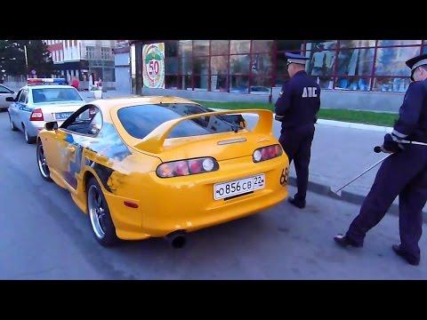 Сумасшедшие Погони ДПС за Nissan GTR и Другими!!!
