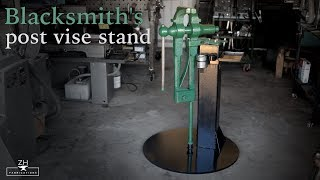 Blacksmith post vise stand