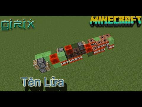 MineCraft HD  - Làm Tên Lửa Bắn Nhà Hàng Sóm