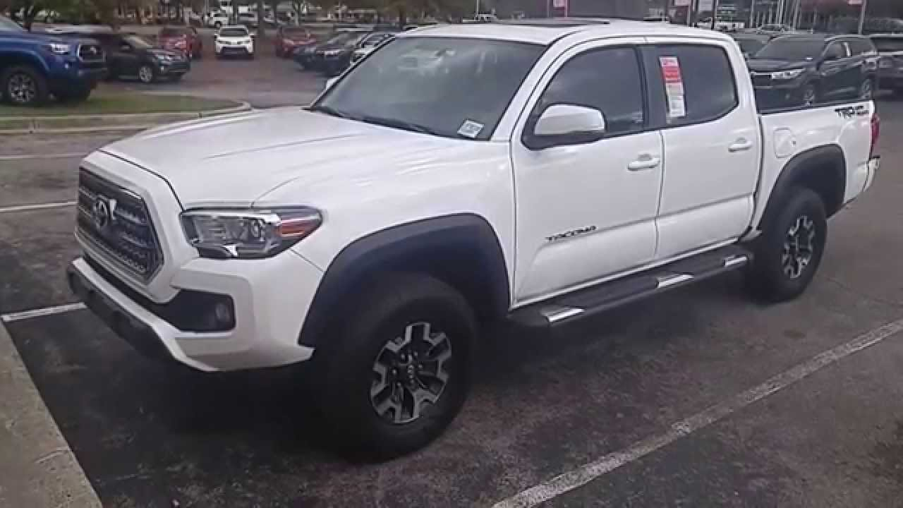 super white 2016 toyota tacoma sr5 trd off road package in huntsville al youtube. Black Bedroom Furniture Sets. Home Design Ideas