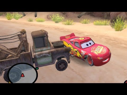 Disney Pixars Cars Movie Game   Sleepy Mcqueen 9   Napping On A Railroad  