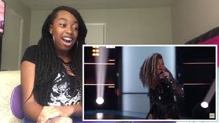 """SandyRedd Gets Four Turns With Bishop Briggs' """"River"""" - The Voice 2018 Blind Auditions (REACTION!)"""