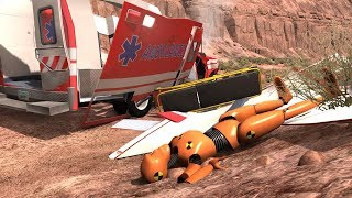 Crash Test Dummy - Ambulance Crashes 2 | BeamNG.drive